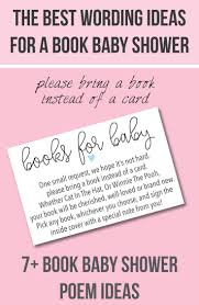 baby shower sayings baby shower sayings for bringing books instead of cards baby