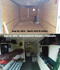 Travel Trailer With Garage Conversions On Pinterest Cargo Trailer Conversion Cargo Trailer
