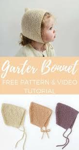 newborn pattern video spring garter bonnet free pattern knitting patterns tutorials