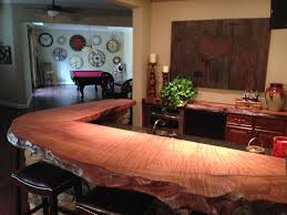 wood countertop handcrafted using a burl wood slab cut from a