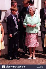 Queen Elizabeth Ii House Prince Harry And Queen Elizabeth Ii At Clarence House August 1998