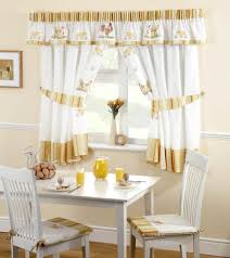 Kitchen Tier Curtains by Intriguing White And Brown Modern Kitchen Window Curtain And