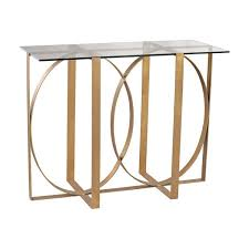 dimond home box rings console table in gold