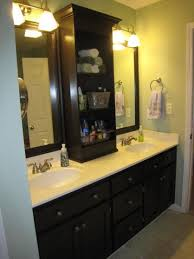 Large Mirrored Bathroom Cabinets by One Big Mirror Redesigned Into Two Without Replacing The Mirror