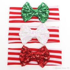 christmas hair accessories 2015 christmas baby glitter headbands green sparkle