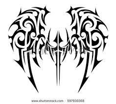 tribal wings free vector stock graphics