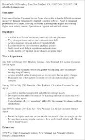 Resume Examples Customer Service Resume by Professional Airline Customer Service Agent Templates To Showcase