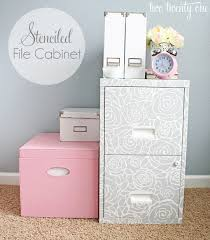 Pink Filing Cabinet Stenciled File Cabinet Two Twenty One