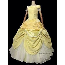 cosplay beauty beast princess belle costume tailor puffy