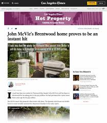Brentwood Home Page by Marcie Hartley Sells Fleetwood Mac U0027s John Mcvie U0027s L A Home