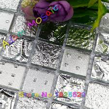 aliexpress com buy mirror glass tile kitchen backsplash silver