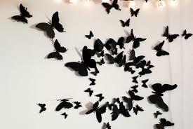 deco papillon chambre diy bricolage deco chambre ado fille papillons noirs papier