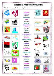 242 free esl free time leisure activities worksheets