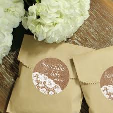 lace favor bags personalized candy buffet favor bags arrow label