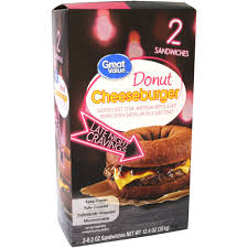 Walmart Furniture Moving Sliders by Great Value Cheeseburger Donut 6 2 Oz 2 Count Walmart Com