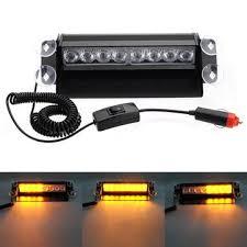 Led Auto Lights 8 Led Fire Car Deck Truck Dash Strobe Flash Warning Emergency