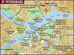 st map map of st petersburg