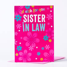 birthday card sister in law only 29p