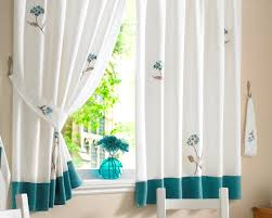 Modern Cafe Curtains Kitchen Style Satisfying Modern Kitchen Curtains Inside
