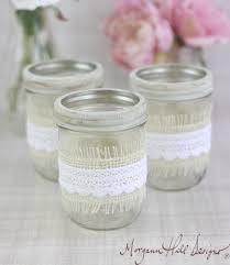 Rustic Mason Jar Centerpieces For Weddings decorating with burlap and lace mason jar wedding centerpieces