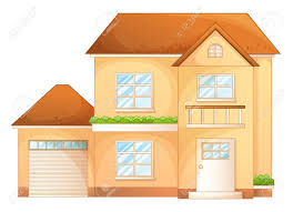 illustration a simple house front view royalty free cliparts
