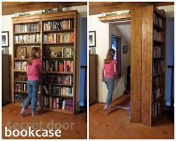how to make a folding secret door bookcase