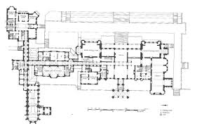 Highclere Castle Floor Plan by Eaton Hall Cheshire Alfred Waterhouse 1870 1882 1280 819