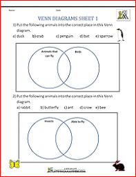 venn diagram math worksheets u0026 venn diagram animals in water and