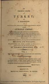 Ottoman Empire Laws The Present State Of Turkey Thornton 1809