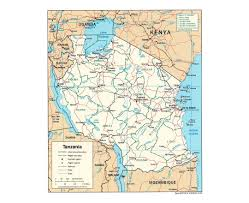Burundi Africa Map by Maps Of Tanzania Detailed Map Of Tanzania In English Tourist