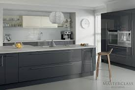 kitchen related post with high gloss light grey kitchen grey