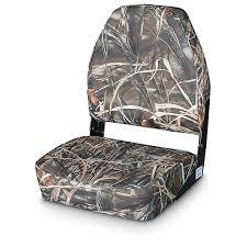 guide gear high back fold down camo boat seat advantage max 4 hd