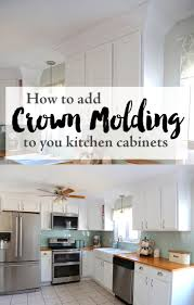 how to add crown molding to kitchen cabinets adding crown molding to your kitchen cabinets kitchen design