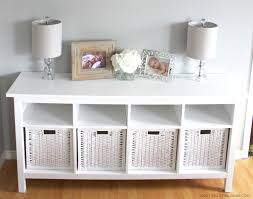 Changing Table Shelves by Furniture On A Budget Ikea Branäs And Hemnes Sofa Table Review