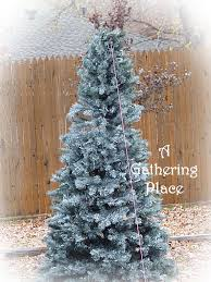 how to paint your tree winter white
