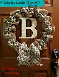 burlap wreaths diy chevron burlap wreath tutorial