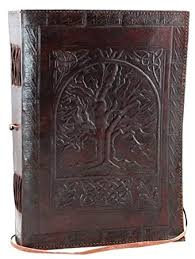 leather bound photo book large tree of leather blank book large leather