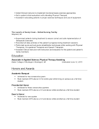 Pta Resume Sample by Clinical Instructor Resume Resume Templates