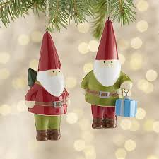 ceramic dangle legs gnome ornaments crate and barrel