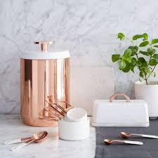 copper kitchen canisters west elm uk