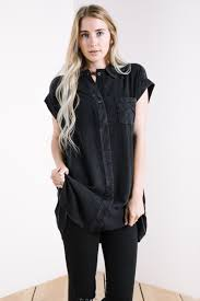 black button up blouse the button up blouse in black piper scoot