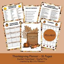 thanksgiving planner 2016 my planners