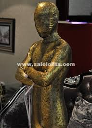 Skin Suit Halloween Costume Gold Copper Shiny Metaillic Bodysuit Cosplay Clothes Skin Suit