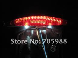 motorcycle license plate frame with led brake light 2018 motorcycle tail brake light motor side mount chrome aluminium