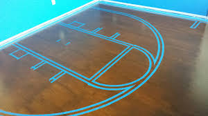 painted plywood floor basketball court dream home improvement