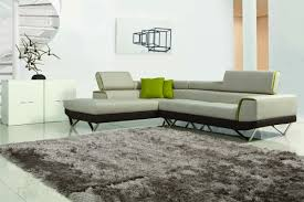 Modern Fabric Sectional Sofas Modern Fabric Sectional Sofa W Retractable Headrests