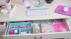 Organization Desk Desk Organization Ideas How To Design A Girly Desktop