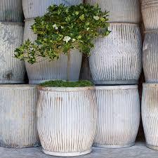 popular of large garden planters outdoor decor vintage zinc barrel