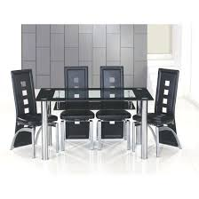 Black Gloss Dining Table And 6 Chairs Black Dining Table And Chairs Home Design Ideas Dark Julian Bowen