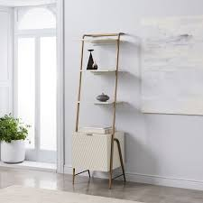 west elm white bookcase audrey narrow storage bookcase west elm